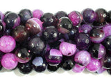 Agate Beads, Pink & Black, 10mm Faceted-BeadXpert