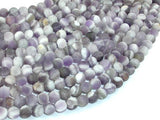 Matte Amethyst Beads, Dog Tooth Amethyst, Round, 6mm-BeadXpert