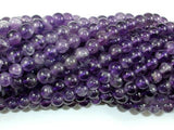 Amethyst Beads, Approx 5.5mm Round Beads-BeadXpert