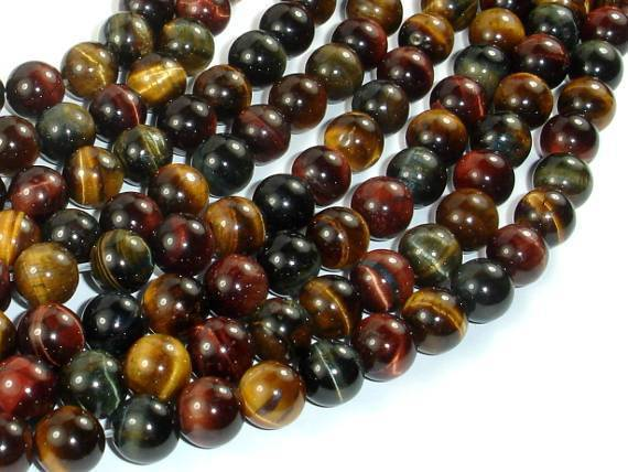 Tiger Eye Beads, 3 color, 8mm-BeadXpert