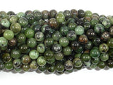Dendritic Green Jade Beads, 6mm Round Beads-BeadXpert