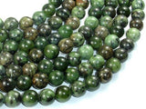 Dendritic Green Jade Beads, 10mm Round Beads-BeadXpert