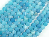 Frosted Matte Agate - Sea Blue, 6mm Round Beads-BeadXpert