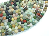 Matte Mixed Stone, 6mm Round Beads-BeadXpert