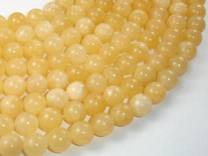Yellow Jade Beads, 10mm(10.5mm) Round Beads-BeadXpert