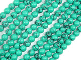 Howlite Turquoise Beads Green, 6mm Round Beads-BeadXpert