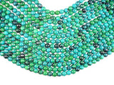 Chrysocolla, 8mm (7.8mm) Faceted Round Beads-BeadXpert