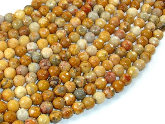 Crazy Lace Agate Beads, 6mm Faceted Round-BeadXpert