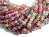Watermelon Tourmaline Beads, 2x3.8mm Faceted Rondelle-BeadXpert
