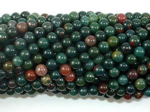 Indian Bloodstone Beads, 4mm Round Beads-BeadXpert