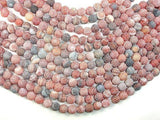 Frosted Matte Agate, Dragon Vein Agate, 10mm Round Beads-BeadXpert