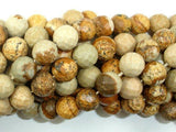 Picture Jasper Beads, 10mm Faceted Round Beads-BeadXpert
