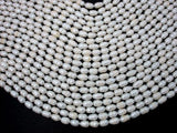 Fresh Water Pearl Beads, Rice, White, 6x9mm-BeadXpert