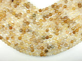 Yellow Quartz, 8mm(8.3mm) Round Beads-BeadXpert