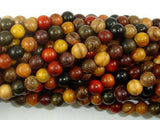 Mixed Wood Beads, 6mm Round Beads-BeadXpert