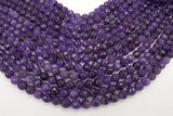 Amethyst Beads, 10mm Faceted Round-BeadXpert