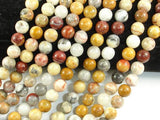 Crazy Lace Agate Beads, 8mm Round Beads-BeadXpert