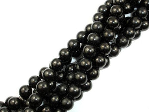 Jet Gemstone Beads, Round, 8mm-BeadXpert