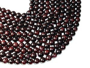 Red Garnet Beads, Approx 9mm Round Beads-BeadXpert