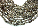 Smoky Quartz Beads, Pebble Chips, 6mm-9mm-BeadXpert