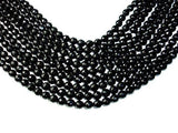 Black Onyx Beads, Faceted Round, 8mm-BeadXpert