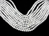 White Howlite Beads, 8mm(8.5mm) Round Beads, 15.5 Inch-BeadXpert