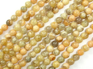 Feldspath Beads, Tiger Jasper Beads, Round, 4mm-BeadXpert
