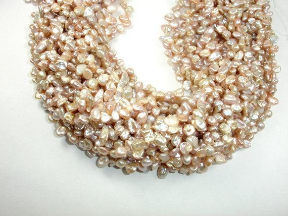 Fresh Water Pearl Beads, Mauve, Top drilled, Keshi-BeadXpert