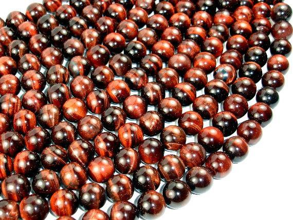 Red Tiger Eye Beads, Round, 12mm-BeadXpert
