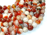 Agate Beads, Faceted Round, 12mm, 15.5 Inch-BeadXpert