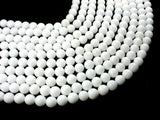 White Jade Beads, Round, 10mm (10.5mm)-BeadXpert