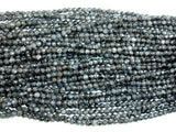 Black Labradorite Beads, Faceted Round, 4mm, 14.5 Inch-BeadXpert