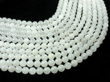White Jade Beads, Round, 10mm, 15.5 Inch-BeadXpert