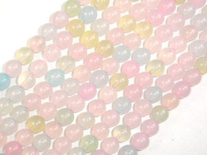 Agate Beads, Multi color, 8mm Round Beads, 15 Inch-BeadXpert