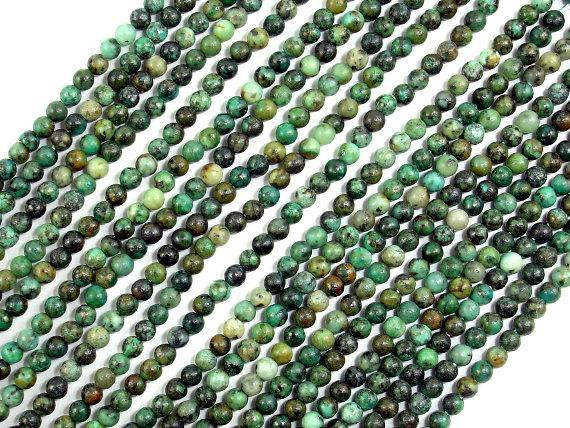 African Turquoise Beads, Round, 2mm (2.3 mm)-BeadXpert