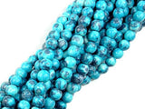 Rain Flower Stone Beads, Blue, 6mm Round Beads-BeadXpert