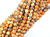 Rain Flower Stone, Orange, 6mm Round Beads-BeadXpert