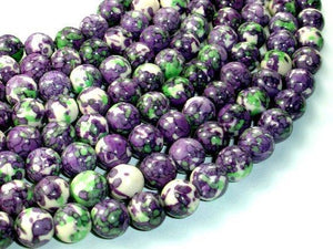 Rain Flower Stone, Purple, 10mm Round Beads-BeadXpert