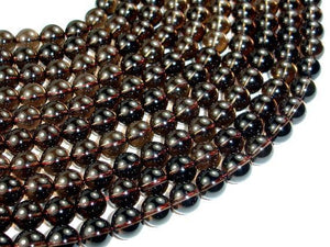Smoky Quartz Beads, Round, 10mm-BeadXpert