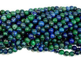 Azurite Malachite Beads, 4mm (4.5mm) Round-BeadXpert