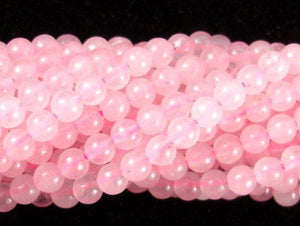 Rose Quartz Beads, 4mm (4.5mm) Round Beads-BeadXpert