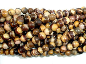 Brown Zebra Jasper Beads, Round, 4mm-BeadXpert