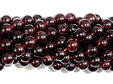 Red Garnet Beads, Approx 7mm Round Beads-BeadXpert