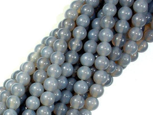 Gray Agate Beads, 6mm Round Beads-BeadXpert