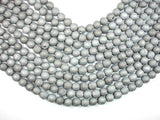 Druzy Agate Beads, Silver Gray Geode Beads, 8mm Round Beads-BeadXpert