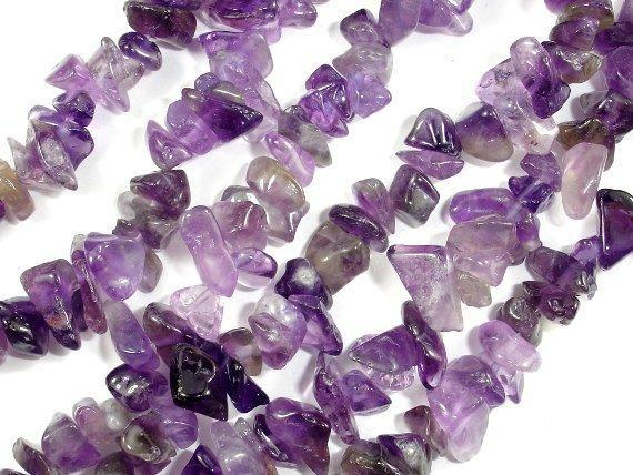Amethyst Chips, Approx 4 - 9mm, 35 Inch-BeadXpert