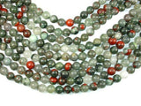 African Bloodstone, 10mm (10.4 mm) Round-BeadXpert