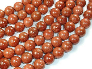 Goldstone, 12mm Round Beads-BeadXpert