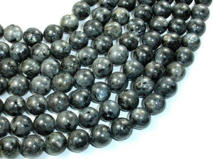 Black Labradorite Beads, 12mm Round Beads-BeadXpert
