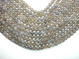 Gray Agate Beads, 8mm Faceted Round Beads-BeadXpert